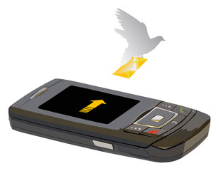 phone and carrier pigeon