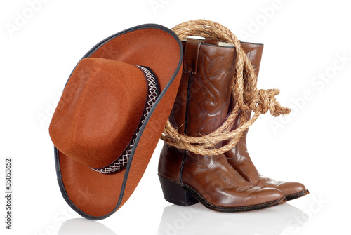 418d7cceb5104 cowboy boots hat and lasso