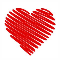 Hand-drawn vector heart