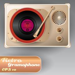 Beautiful Retro Gramophone
