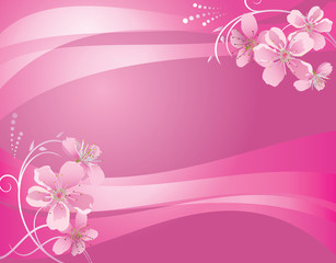 abstract pink background with flower - eps 10