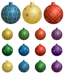 colorful vector decorative balls for christmas