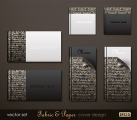 Fabric and Paper composite cover design.