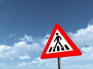Verkehrszeichen Fußgängerüberweg
