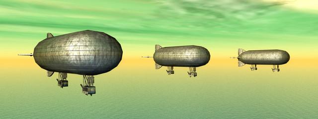Drei Luftschiffe