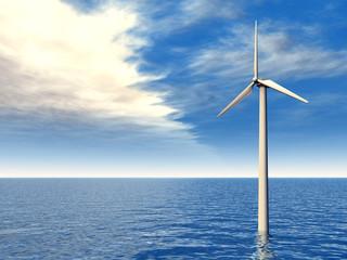 Windkraftanlage im Meer