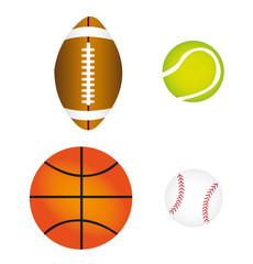 sports balls, vector