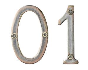 Fototapete - Metal numbers