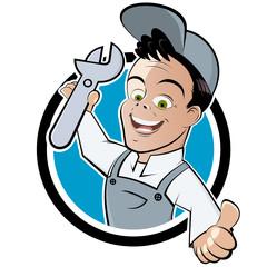mechaniker techniker cartoon