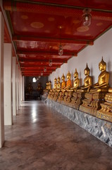 Row of Buddha images