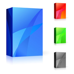 CD box of different colors