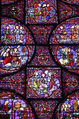 Photo sur Plexiglas Vitrail Chartres - Cathédrale Notre-Dame
