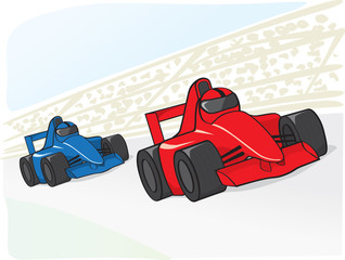 Papiers peints Voitures enfants racing cars