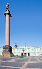 Palace Square in St.Petersburg, Russia