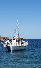 Fishing boat in Greek