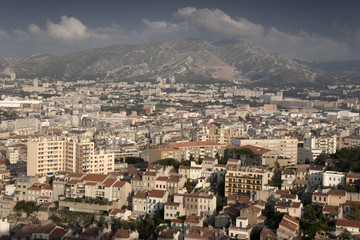 Marseilles Cityscape, Provence, France, Europe