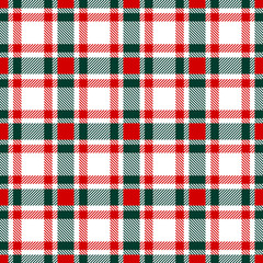 Seamless Pattern Xmas Check Red/Green/White
