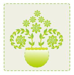 flower leaf green vector baground