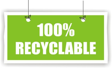 pancarte 100% recyclable