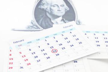 George Washington birth day on 22 February.