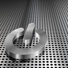 Metalic Power Symbol on Chrome Grid