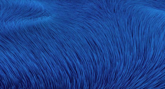 Blaue Fasern - Hintergrund