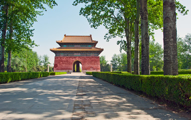 Photo sur Toile Pékin Gate to the Ming Tombs, China