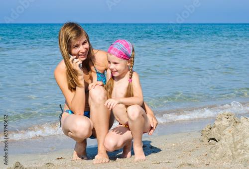 фото ню мама с дочкой