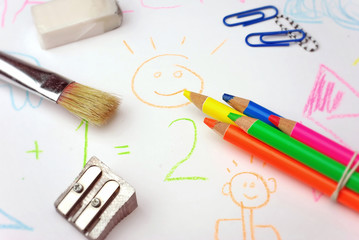 Schule lernen malen