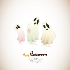 Happy Halloween Ghosts | Separate Layers Named Accordingly