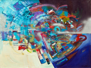 Abstract oil painting 02
