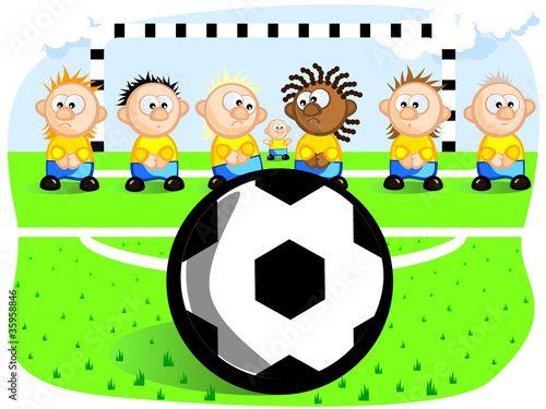 football field Cartoon Clipart  VectorToonscom