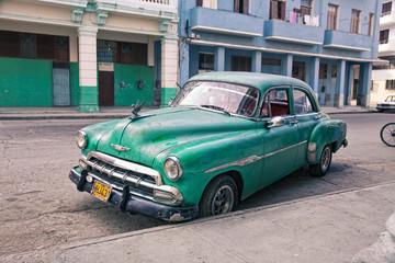 Foto op Aluminium Cubaanse oldtimers Havana street