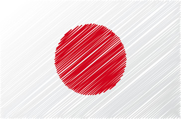 japanese flag, vector illustration