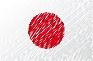 japanese flag, vector illustration