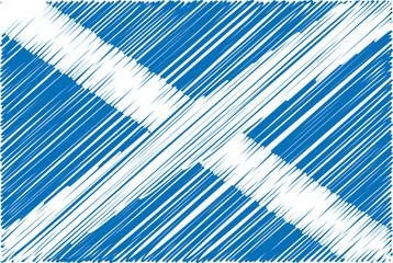 scottish flag, vector illustration