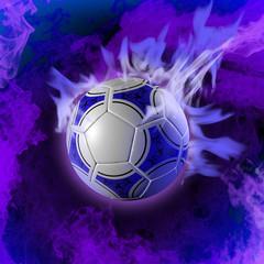 palla fuoco azzurro