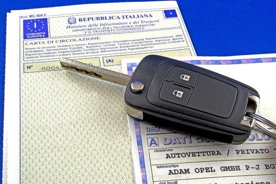 Certificato di proprietà e libretto di circolazione
