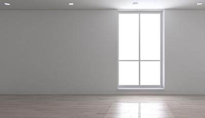 Interno vuoto con finestra