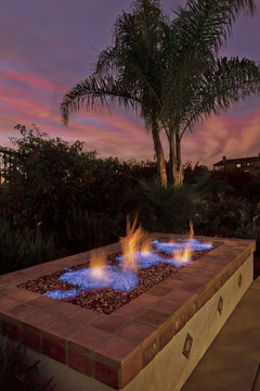 Firepit, Backyard, Luxury Living