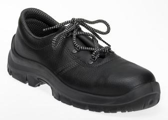 black lace-up shoe