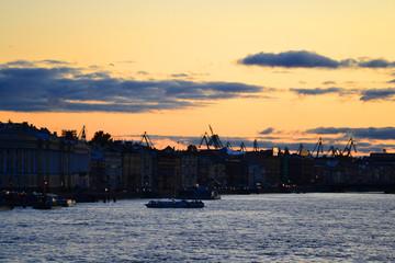 English Embankment after sunset
