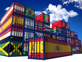 Foto op Canvas Buenos Aires CONTAINER SPAGNA