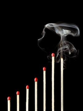 Success and Burnout Syndrome concept