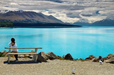 Wall Mural - Lake Pukaki and Mount Cook, New Zealand