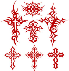 tribal cross illustration