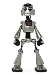 funny robot in power pose