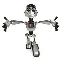 funny robot in give me a hug up view
