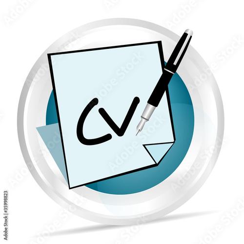 u0026quot ic u00f4ne r u00e9diger un cv u0026quot  fichier vectoriel libre de droits