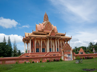 Buddhist temple in Sisophon, Cambodia